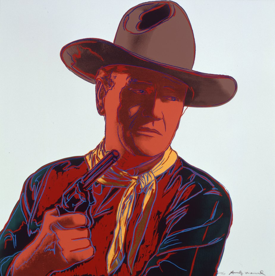 "Andy Warhol, ""Cowboys and Indians: John Wayne"", 1986. The Andy Warhol Museum, Pittsburgh; Founding Collection, Contribution The Andy Warhol Foundation for the Visual Arts, Inc. 1998.1.2493.1"