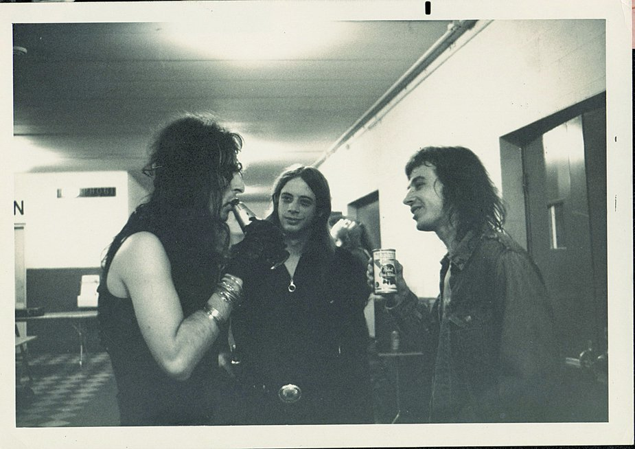 Alice Cooper, David Teegarden, and Skip Knape. Photo courtesy David Teegarden Collection