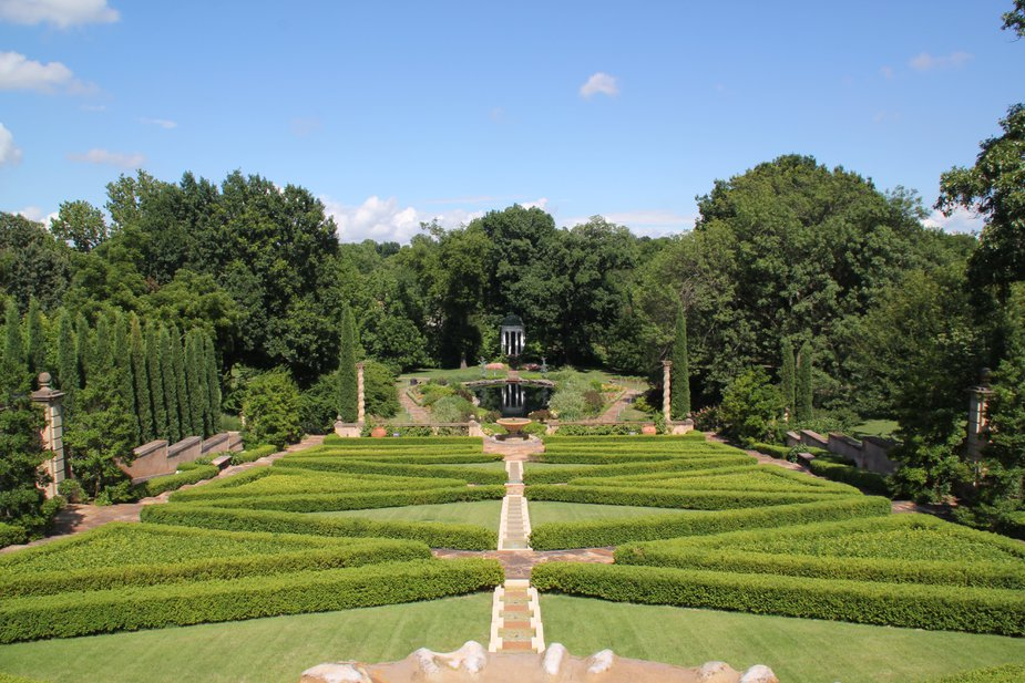 The 25-acre gardens at the Philbrook Museum of Art recently were named the most beautiful place in Oklahoma by *House Beautiful* magazine. Photo by Nathan Gunter