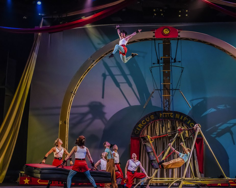 There's high-flying action coming to Stillwater as Cirque Mechanics take the McKnight Center's stage. Photo by Maike Schulz.