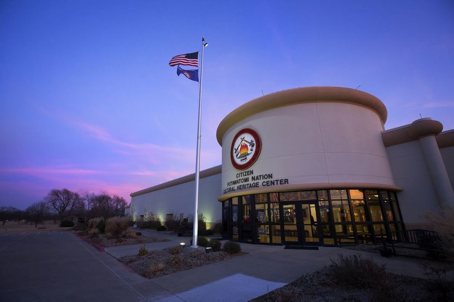 Citizen Potawatomi Nation Cultural Heritage Center in Shawnee. Photo by Garrett Fisbeck/CPN