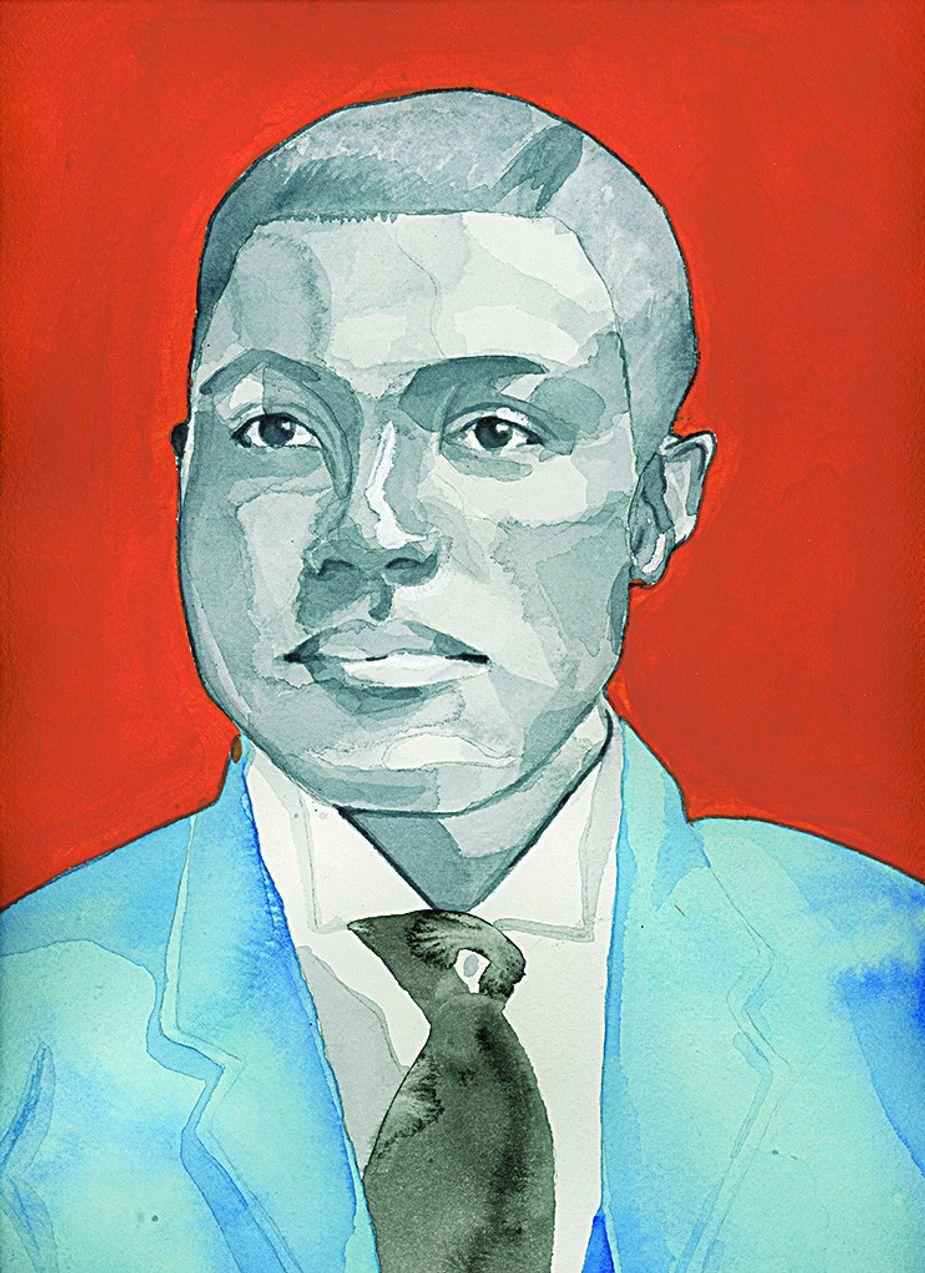 Oklahoma's first African American legislator A.C. Hamlin. Portrait by Shannon Nicole