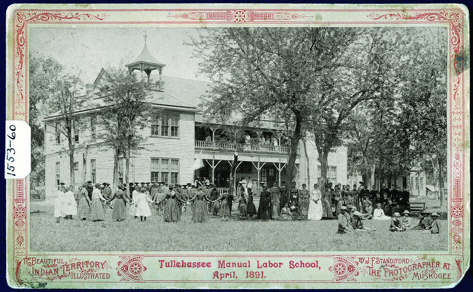 The Tullahassee Manual Labor School was a Creek Nation-funded boarding school opened for Freedmen in 1883. Tullahassee is one of the oldest historic all-black towns in Oklahoma. Photo courtesy Oklahoma Historical Society