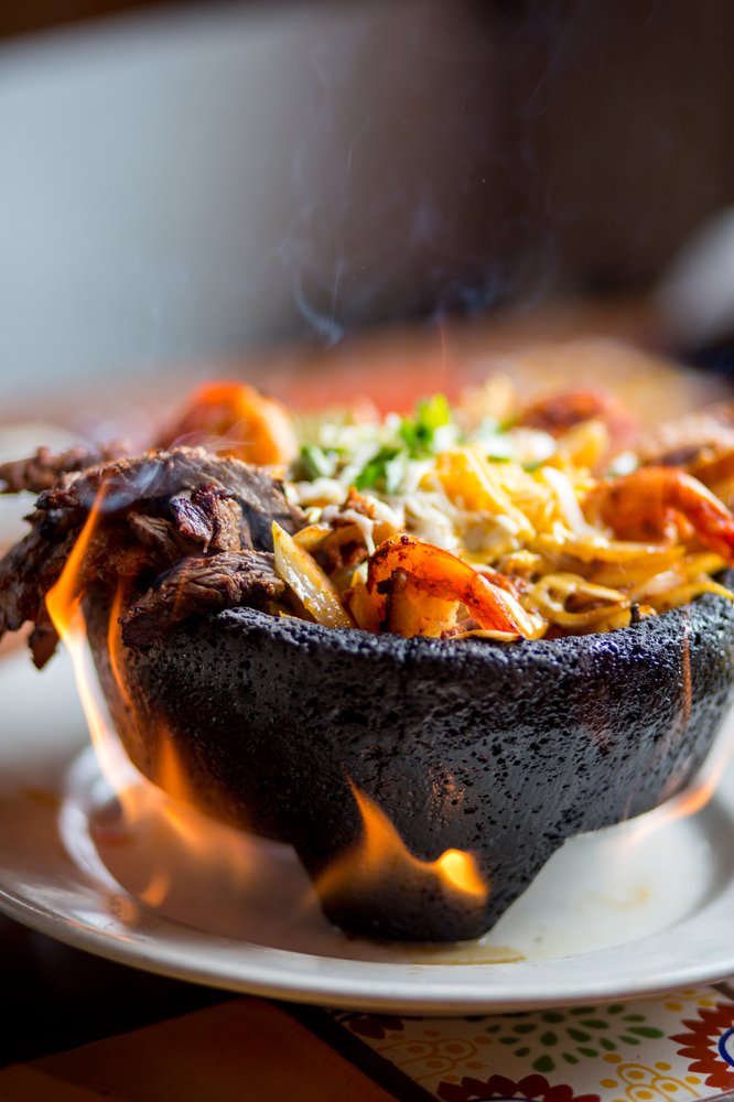 The El Molcajete at Gonzalez Mexican Restaurant in Tishomingo is an eye-catching treat. Photo by Lori Duckworth.