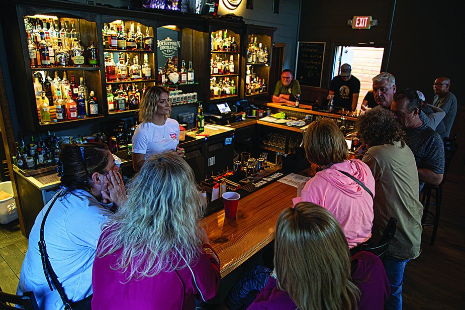 Along with a full bar, The Tasting Room often features live music and games. Photo by Lori Duckworth