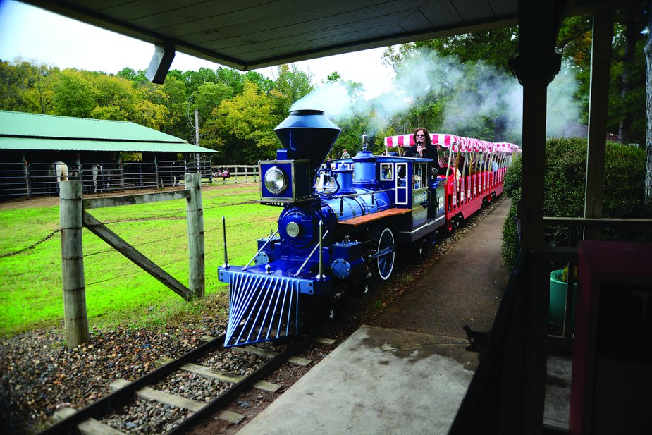 The train leaves the station about every half hour at Beavers Bend Depot and Trail Rides. Photo by Kim Baker