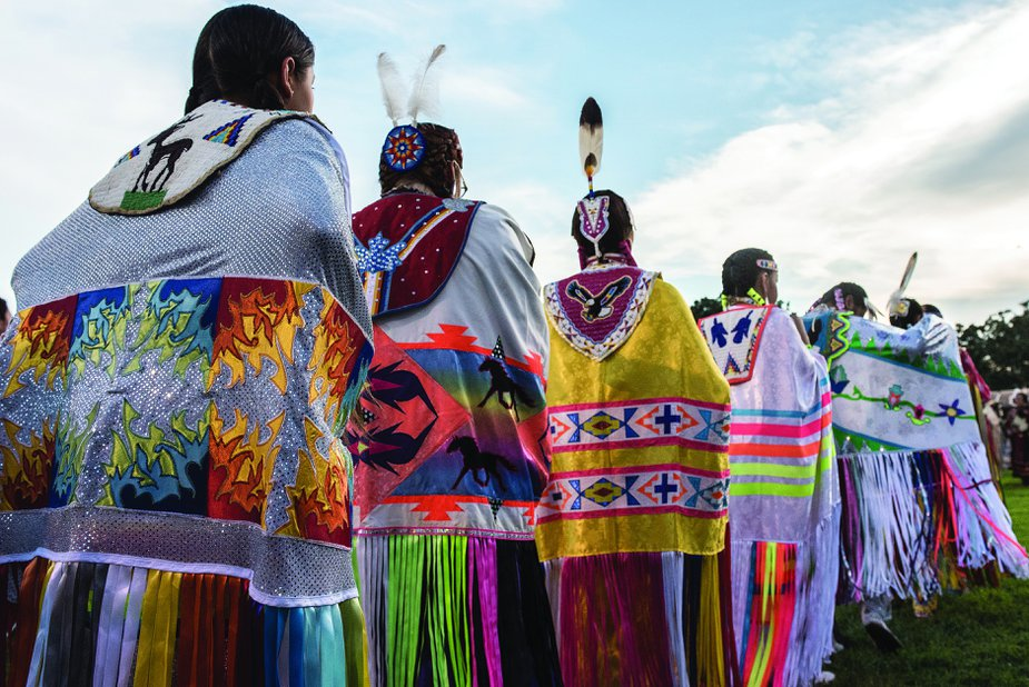 Language programs and cultural events like the annual Sac and Fox powwow in July offer ways for Native Americans to integrate their spoken languages into modern life.