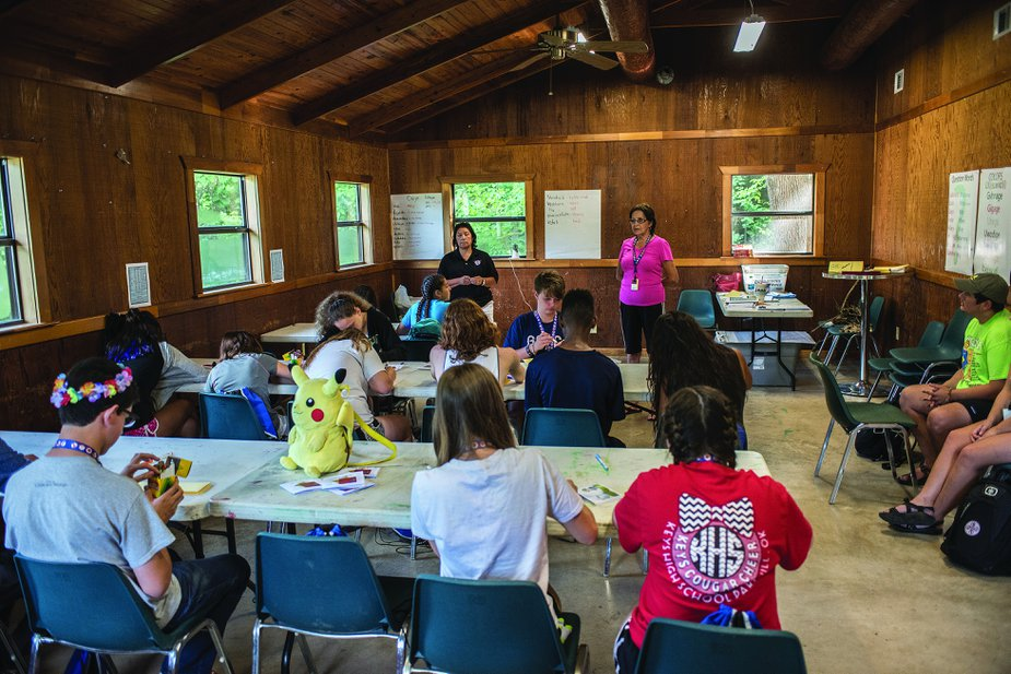 Camp Cherokee in Tahlequah is an annual program that teaches students about Cherokee culture and language as well as math, science, and art.
