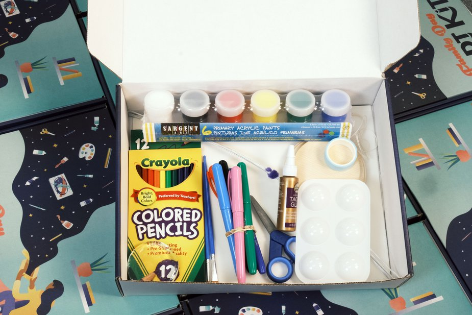 A peek inside the OKCMOA Family Art Day Kit