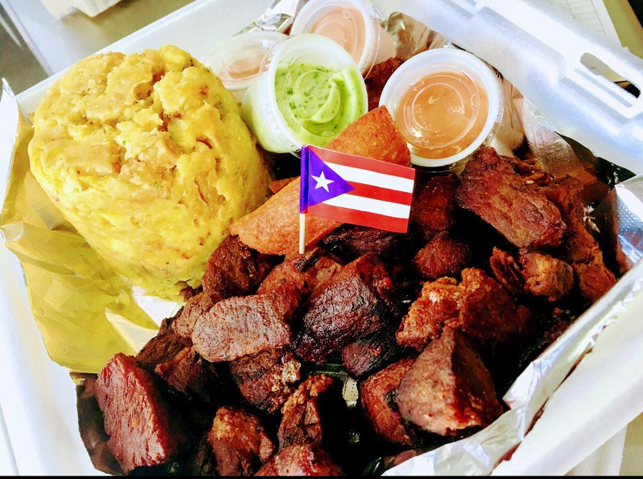 Fried pork mofongo from Puerto Rico To-Go