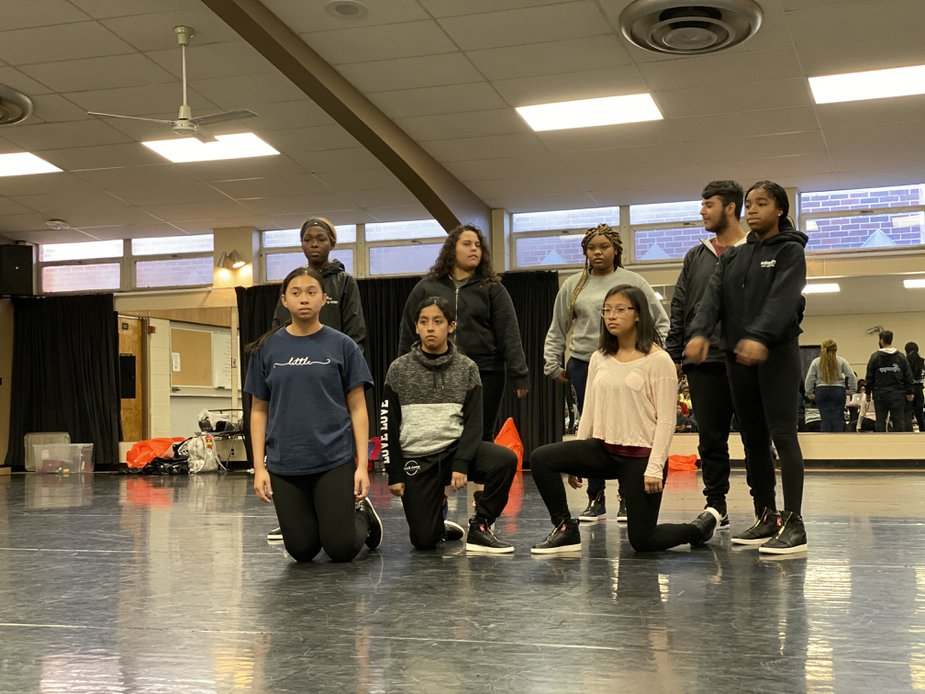 """A few of the RACE Dance Collective's """"Hip Hop Nutcracker"""" cast prepare for their next rehearsal."""