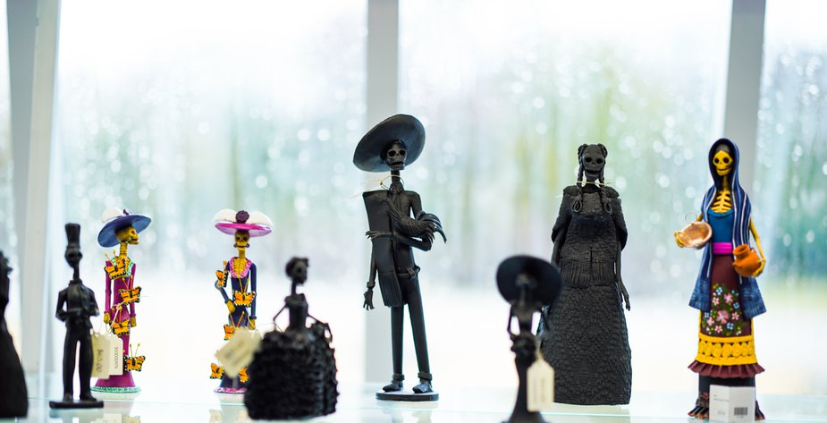 The museum's gift shop includes a selection of Catrina dolls, which traditionally decorate Día de los Muertos altars. Photo by Laci Schwoegler/Retrospec Films