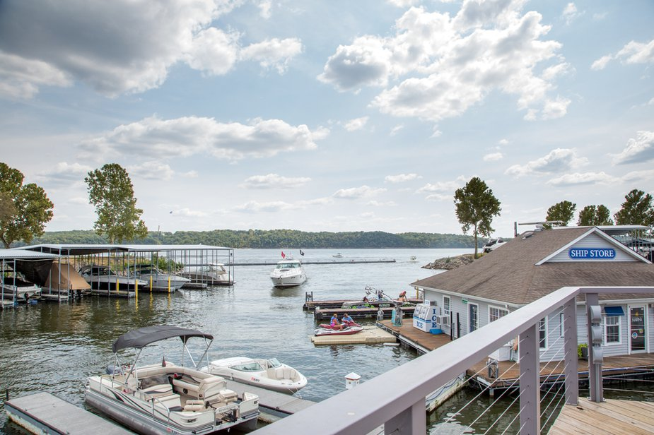 The Shangri-La Marina offers guests access to a world of adventure on Grand Lake including boat rental and parasailing.
