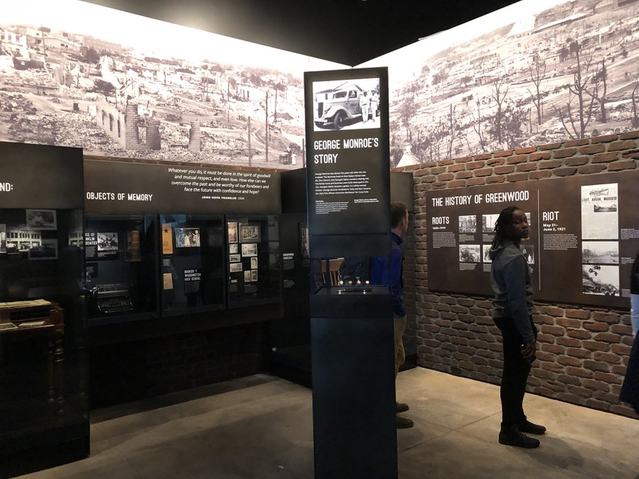 Part of the National Museum of African American History and Culture's exhibit on the Tulsa Race Massacre. Photo by Nathan Gunter.