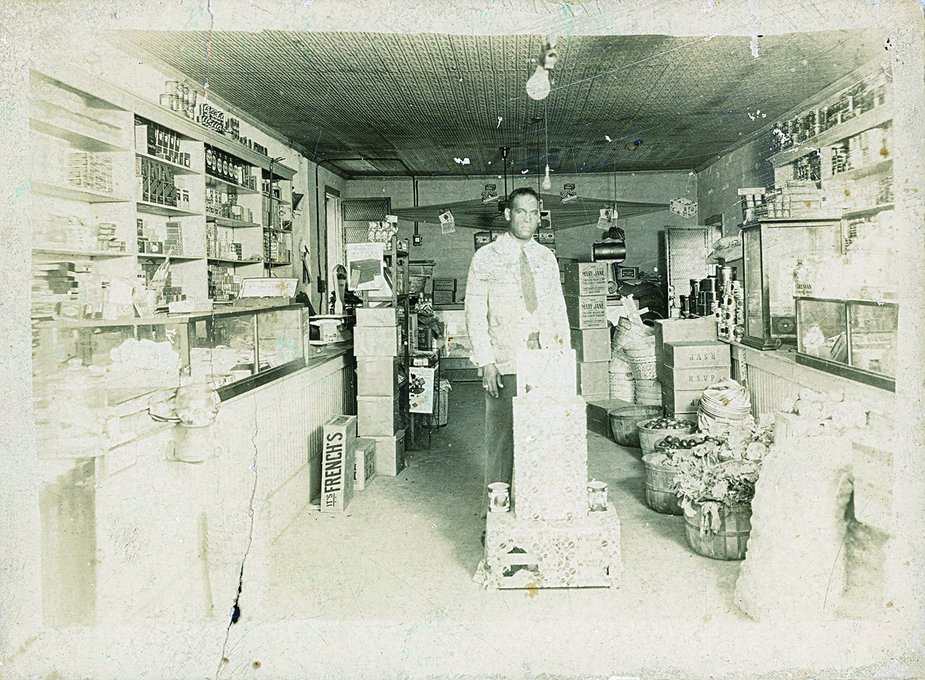John D. Mann owned Mann's Grocery store in the 1920s, which was located at 820 North Greenwood Avenue prior to being burned down. He relocated to King Street after the massacre. Photo courtesy of Tulsa Historical Society