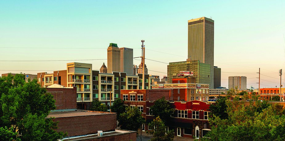 A contemporary view of Greenwood and downtown Tulsa. Photo by Shane Bevel