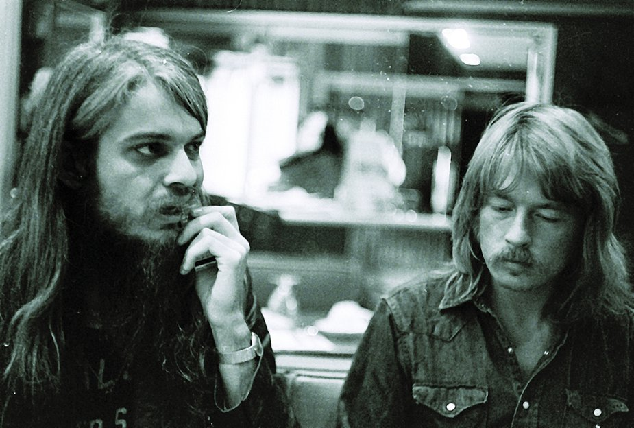 Chuck Blackwell, right, pictured with Leon Russell in the early 1970s, was a major player in the Tulsa music scene. Photo courtesy OHS/OKPOP Museum Collections