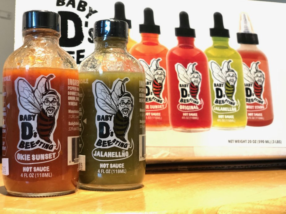 Baby D's Bee Sting hot sauce. Photo by Nathan Gunter