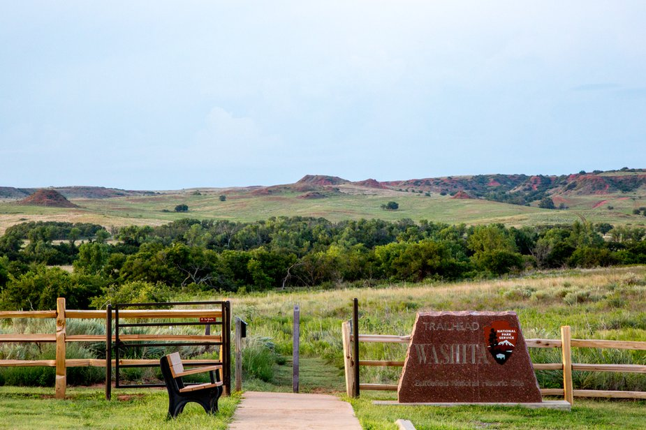 Trails allow visitors to traverse some of the Washita Battlefield National Historiy Site's 315 acres. Photo by Lori Duckworth