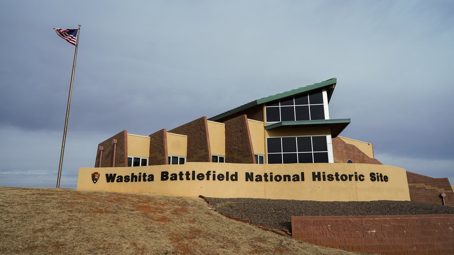 The Washita Battlefield National Historic Site sits south of the Horseshoe Hills in Roger Mills County. Photo by Laci Schwoegler/Retrospec Films