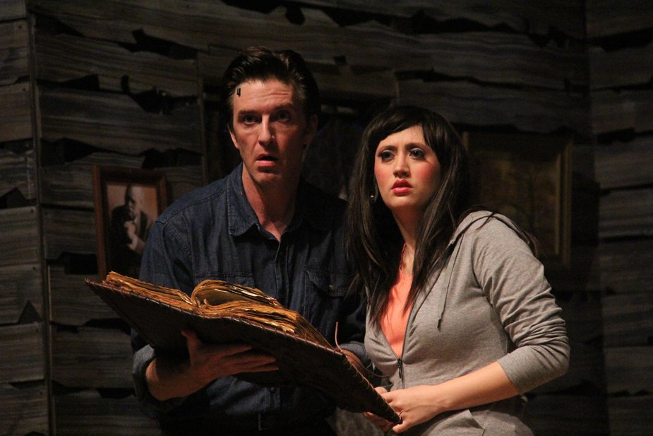 "Wil Rogers and Megan Montgomery perform in ""Evil Dead: The Musical"" at The Pollard Theatre in Guthrie. Photo by Joshua McGowen."