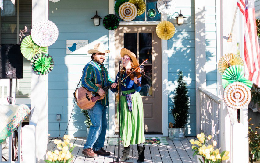 If the porch is a-rockin', grab a seat during PorchFest in Carlton Landing.