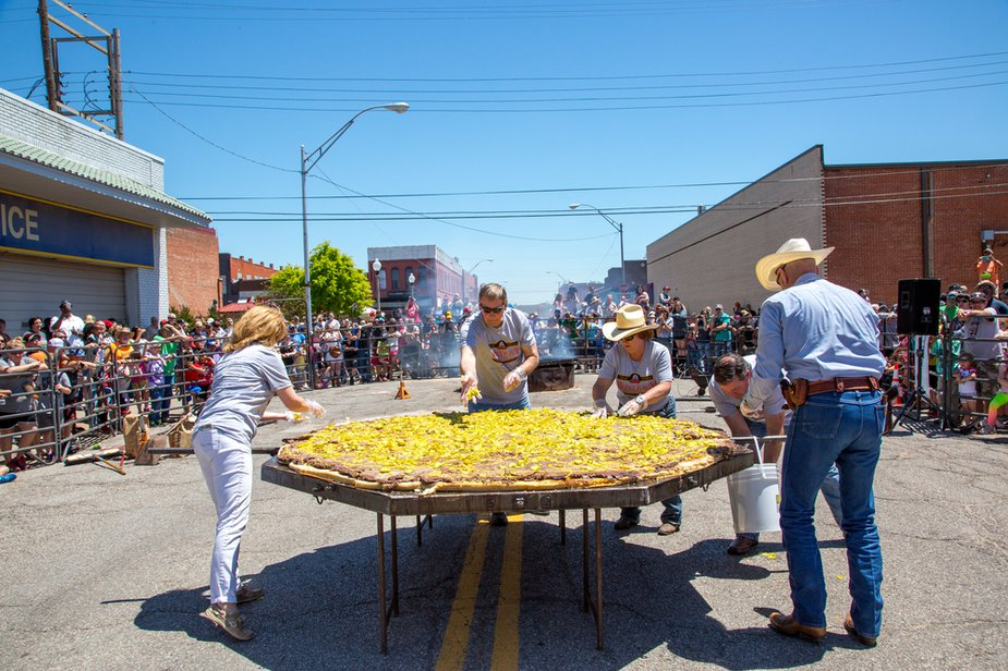 Maybe making the Wolrd's Largest Onion Burger, like they do at the El Reno Onion Burger Festival, is too much for your family. But getting everyone involved is half the fun. Photo by Lori Duckworth