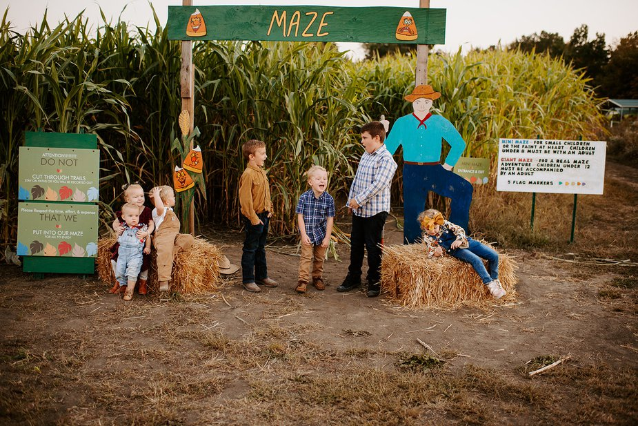 Pile into the Oklahoma Heritage Farm's Fall Festival for a trip through an 11-acre maze, shoot the pumpkin cannon, pet a few animals, and just enjoy Oklahoma's lovely fall weather while it lasts. Photo courtesy Oklahoma Heritage Farm
