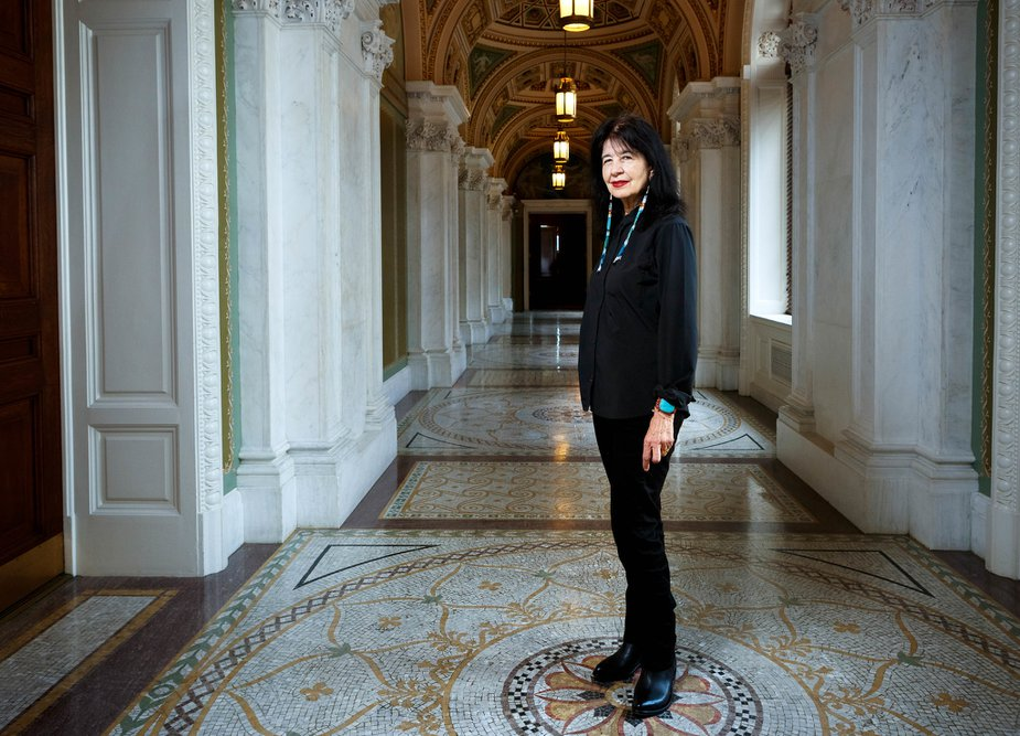Joy Harjo, Tulsa native and member of the Muscogee Creek Nation, is America's 23rd Poet Laureate. Photo by Shawn Miller/Library of Congress.