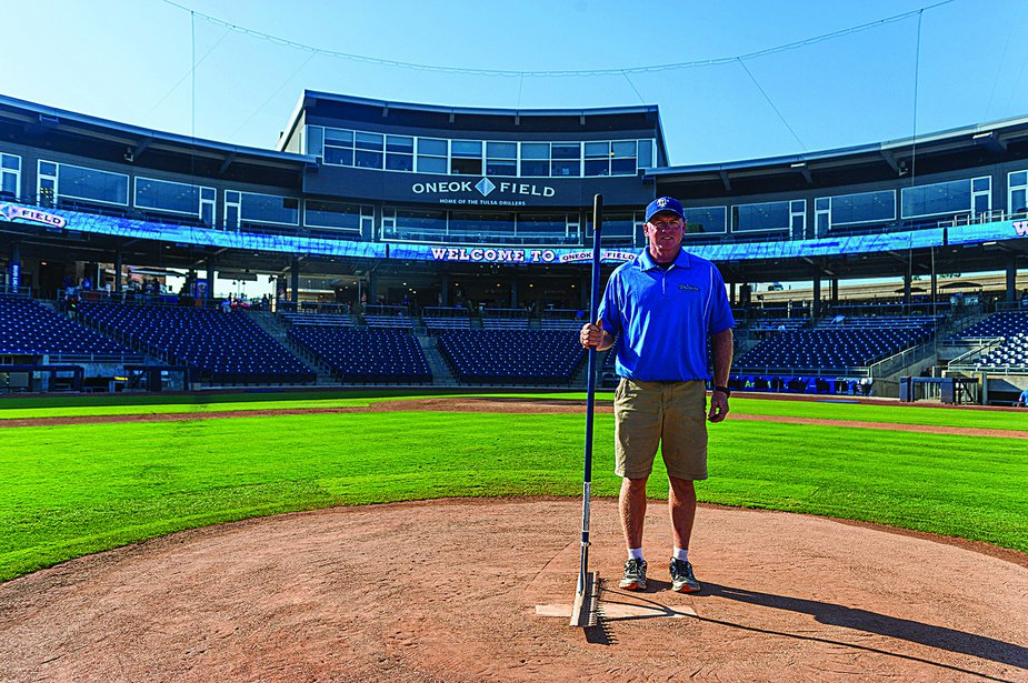 Gary Shepherd has served as head groundskeeper at ONEOK Field for twenty years. He has been with the Drillers organization since 1993.