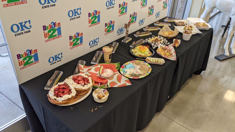 The photo table at the Oklahoma State Fair's Great Taste of a Fair