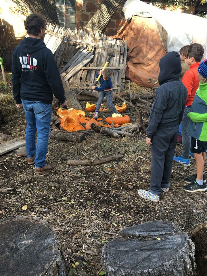 Leftover pumpkins? Bring them to CommonWealth Urban Farms for The Great Pumpkin Smash composting event. Photo courtesy JoBeth Hamon.