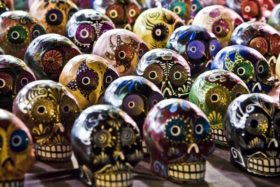 Sugar skulls and folk art will be available for purchase at Tulsa's Dia de los Muertos Arts Festival.